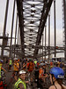 Sydney Critical Mass November 2007 : Across the Harbour Bridge with a few hundred close friends.  What could be finer? Copyright  2007 Simon Rumble. News Limited may publish these photos at a cost of $10 per newspaper sold containing the image or each time it is viewed on your web site and affiliates.  Or they (and anyone else who wants to reproduce them) can contact me and come to some arrangement.