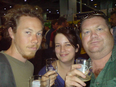 Jo, Dani and Scott at the Great British Beer Festival 2007