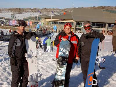 Waz, Simon and Ben at Perisher