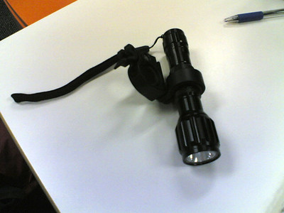LED torch with bike mount