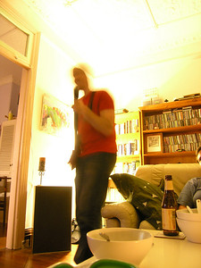 Matt rocking out on Guitar Hero