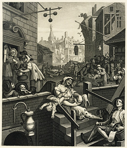 Gin Street, William Hogarth
