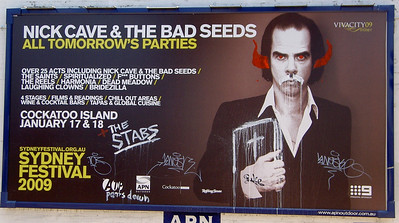 Improved Nick Cave All Tomorrow's Parties poster