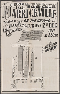 Beer's Estate Marrickville sale 12th December 1891